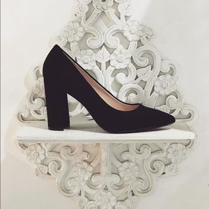 Nine West Black Suede Heels
